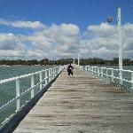 the close to a kilometer Urangan Pier
