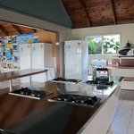 Spotless kitchen at the Russell Top 10 Holiday Park