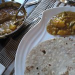 vegetable curry and chapati