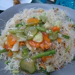 fried noodles with vegetables chopsuey