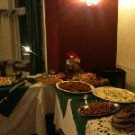 Christmas buffet and it was  excellent