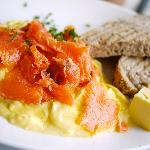 Runny Eggs with Smoked Salmon