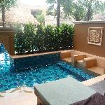 Aqua beds in plunge pool