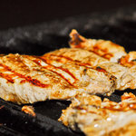 Meagre on the grill/Corvina a la parrilla