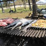 Lunch buffet at Anakena beach