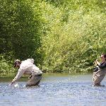 Great guides - here resulting in first fly-fishing catch ever