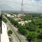 View of Amrapali road, homestay right below