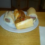 Nice Array of Sandwiches - The Italian, The Deno, and Sausages & Peppers