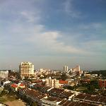 view from balcony, beside Hotel Equatorial (yellow) is Dataran Pahlawan
