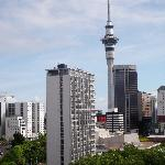  View of the Auckland Sky Tower from Quest at 363 Queen.