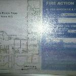 Unreadable fire safety poster