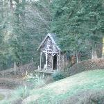 The wooden chapel in the garden