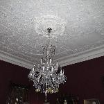 Ceiling and chandelier in Dining room