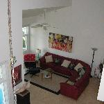  living room from loft above