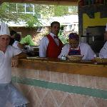pizza bar and staff