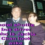 "Hotel shuttle bus driver ""Jackie Chan"""