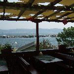  restaurant terrace along sea coast