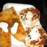 Tacos chicharrones and cheese turnovers, yum!