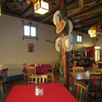 Colorful and decorated for the holidays - the restaurant