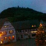 Nice view upon the Schloss and altstadt of Heppenheim