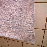 upclose of faded and old towel