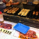 Takoyaki is always ready in hot!!