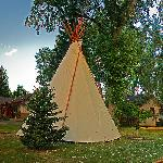  A view of the Main House, and a Tipi we have for Rent