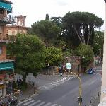 Street view from balcony of room