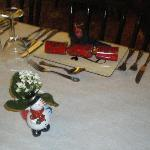 Our Christmas table settings