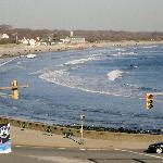 View of Narragansett Town Beach from room at Village Inn