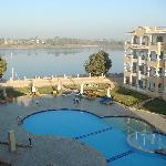 View of pool & Nile from our Balcony