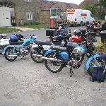 Motorbike clubs enjoy dropping in for our hospitality