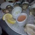 Plate of wonderful oysters