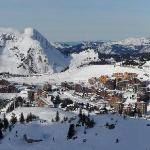 A view down into Avoriaz