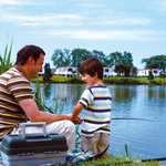 Fishing lake at Burnham-on-Sea Holiday Village