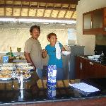 friendly staff cooking us yummo breakfast