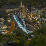 First view of the aqua park