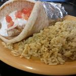  Chicken gyro and rice