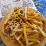  Coney dog and fries