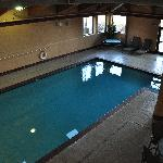 Interior swimming pool at the Best Western Lawrence, Kansas.