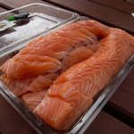 Fresh sliced salmon!!