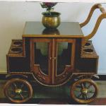 Old hand made drinks trolley