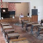 A school room on the walking tour