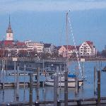 Evening view of Friedrichshafen