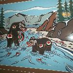  Black Bear painting. Very cool art!