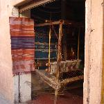A loom in a small house
