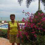 Mom near the pool