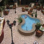 The hotel atrium