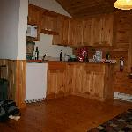  our cabin kitchen area