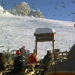 Mountain restaurant at the top of Grizzly chair lift in Vallandry